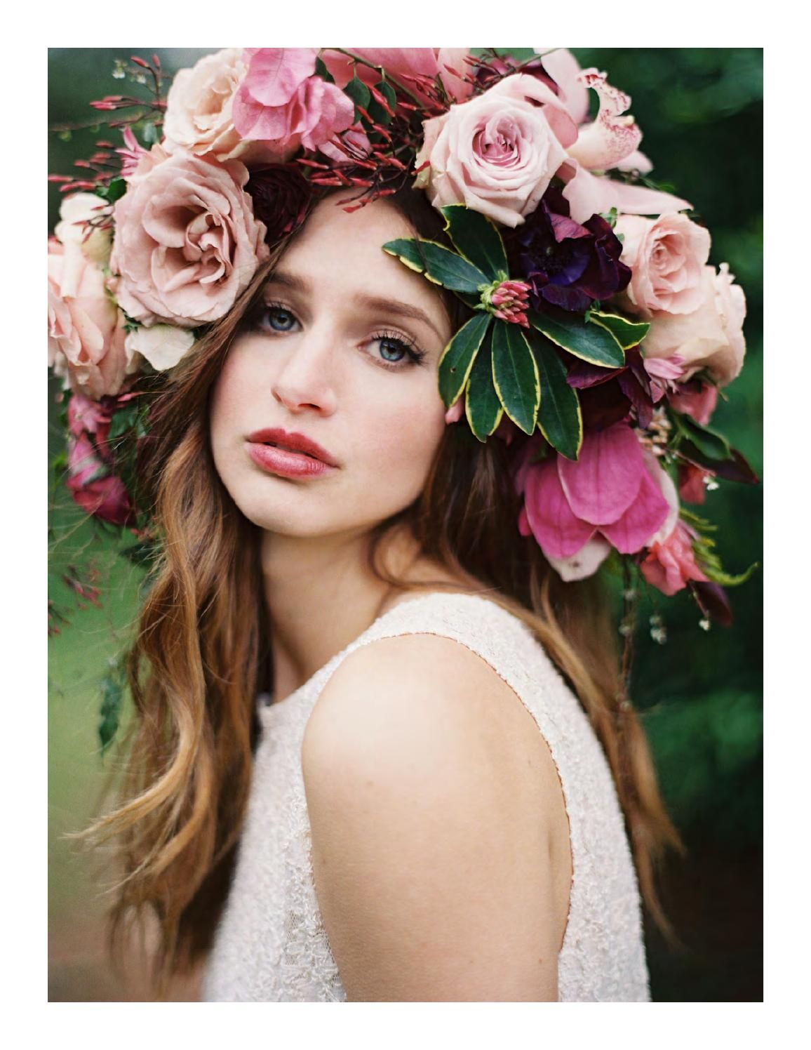 Magnolia Rouge Issue 5 Floral Headdress Bridal Flower Crown Flowers In Hair