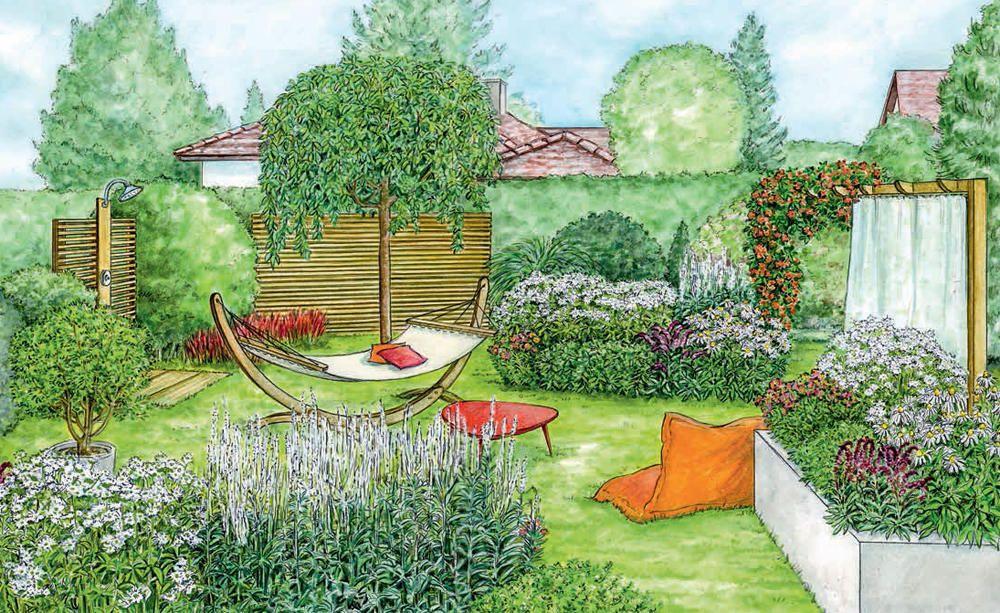 Eine Rasenflache Wird Zum Treffpunkt Kleiner Garten Garten Garten Bepflanzen
