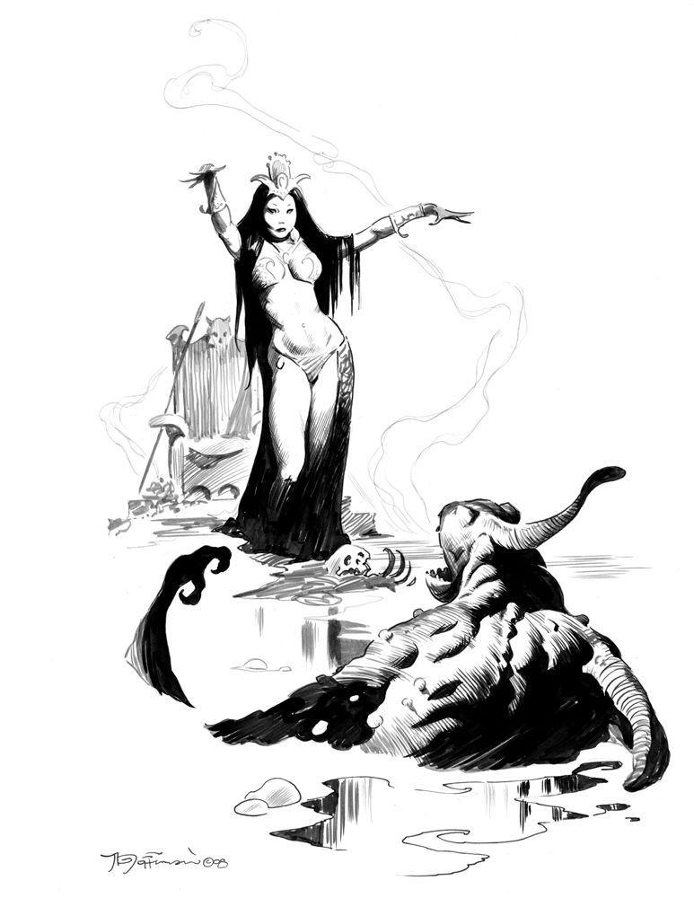 300 Fantasy & Sci-Fi Ink Drawings Book by Mike Hoffman w