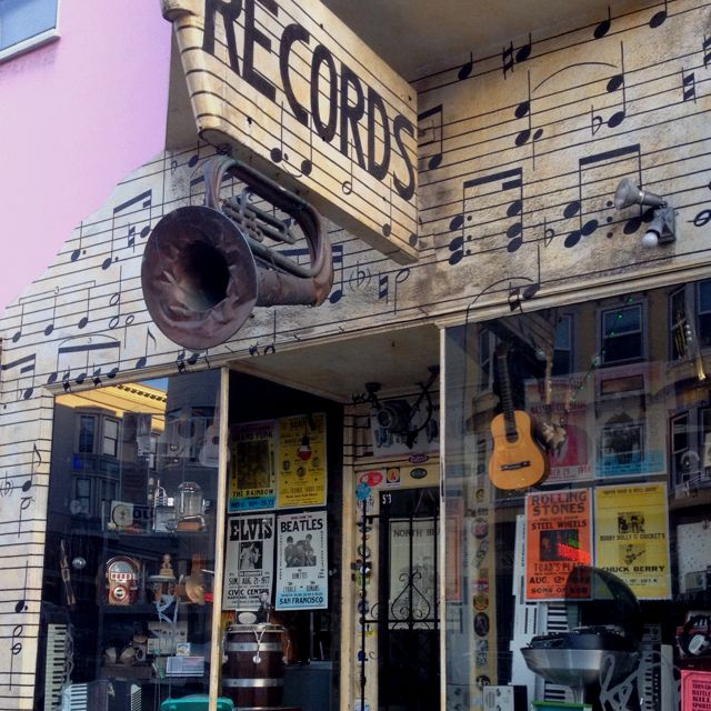 Vintage music store in San Francisco  | music stores dothan