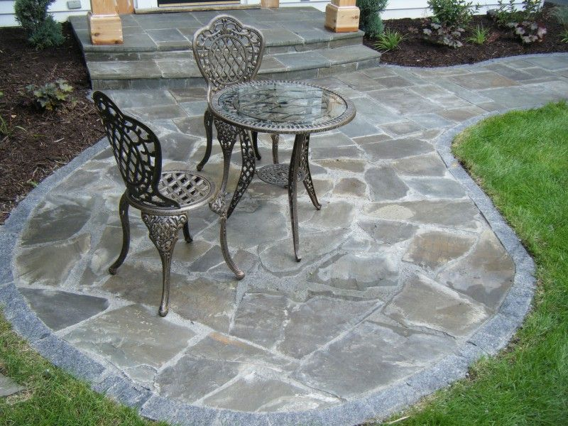 irregular bluestone patio outdoors pinterest bluestone patio