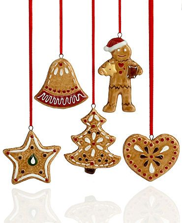 nostalgic christmas decorations villeroy boch christmas ornaments set of 5 gingerbread