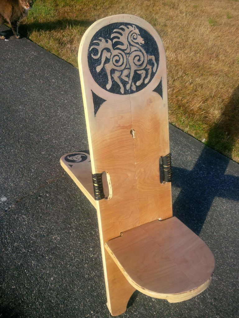 Nerd Throne a BogStargazerVikingPlank Camp Chair  art