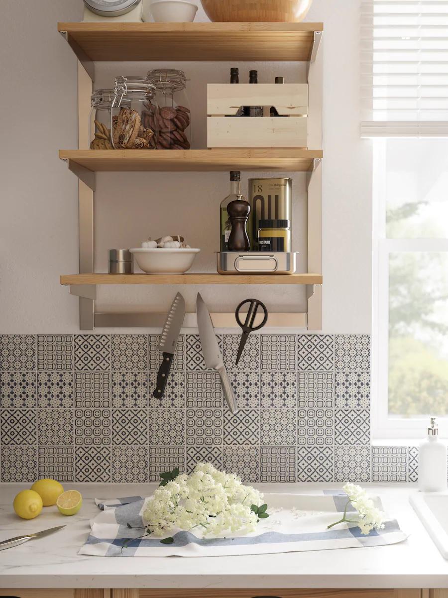 Kungsfors Shelf Bamboo Ikea Shelves Kitchen Shelves Kitchen Fittings