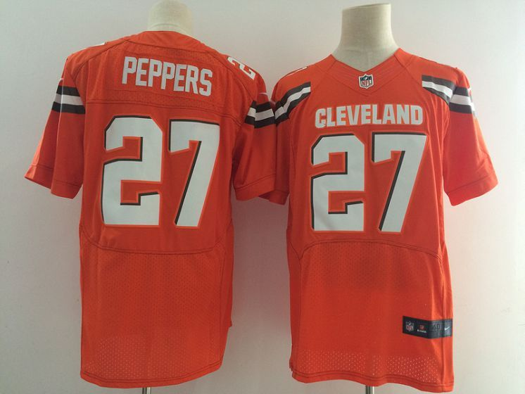2da903243ec Men Cleveland Browns 27 Peppers Orange Elite Nike NFL Jerseys ...