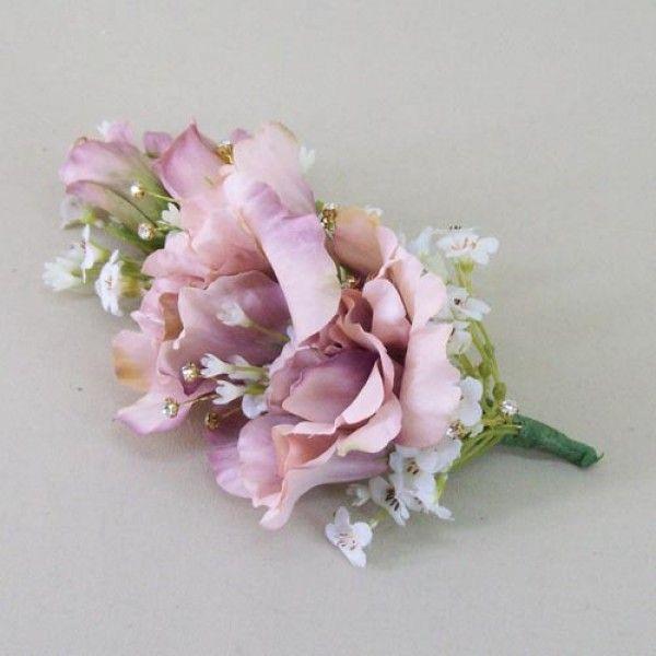 Vintage wedding corsage dusky pink artificial flowers and diamante vintage wedding corsage dusky pink artificial flowers and diamante cor010 mightylinksfo
