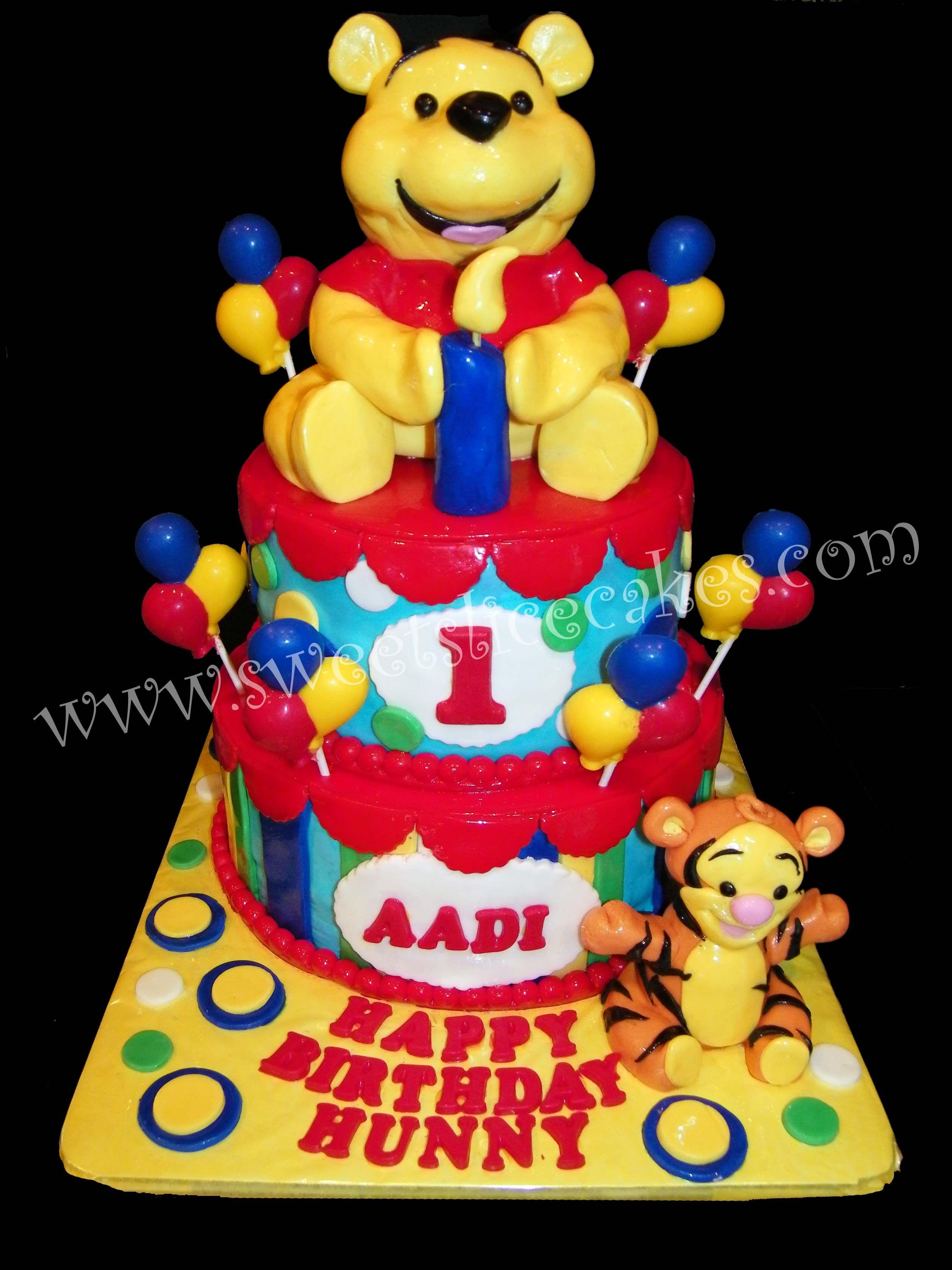 Baby Pooh & Tigger 1st Birthday! All Edible!