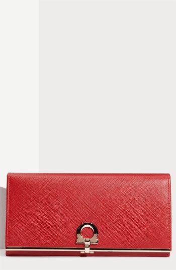 9faf36269da6 Salvatore Ferragamo  Gancini Icona  Saffiano Leather Wallet available at  Nordstrom