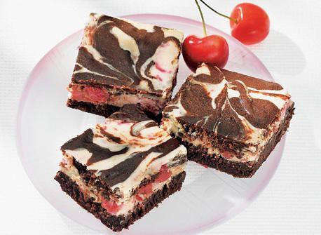 Cherry Cream Cheese Marble Brownies Recipe Cherry Topping For Cheesecake Brownie Recipes Marble Brownies