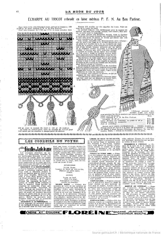 La Mode du jour. 1925/10/15 | Revues francaise | Pinterest | Cosas ...
