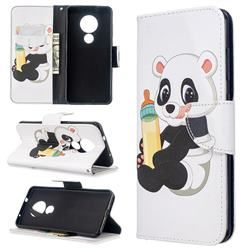 Baby Panda Leather Wallet Case for Nokia 6.2 (6.3 inch) #babypandas