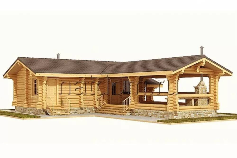 проекты угловой бани с террасой и барбекю фото: 14 тыс ...