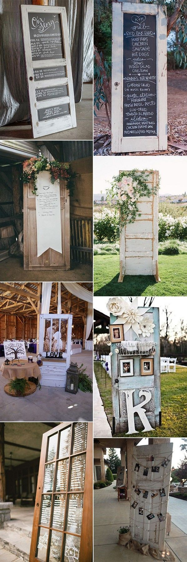 Yard wedding decoration ideas  country rustic wedding decoration ideas with vintage doors