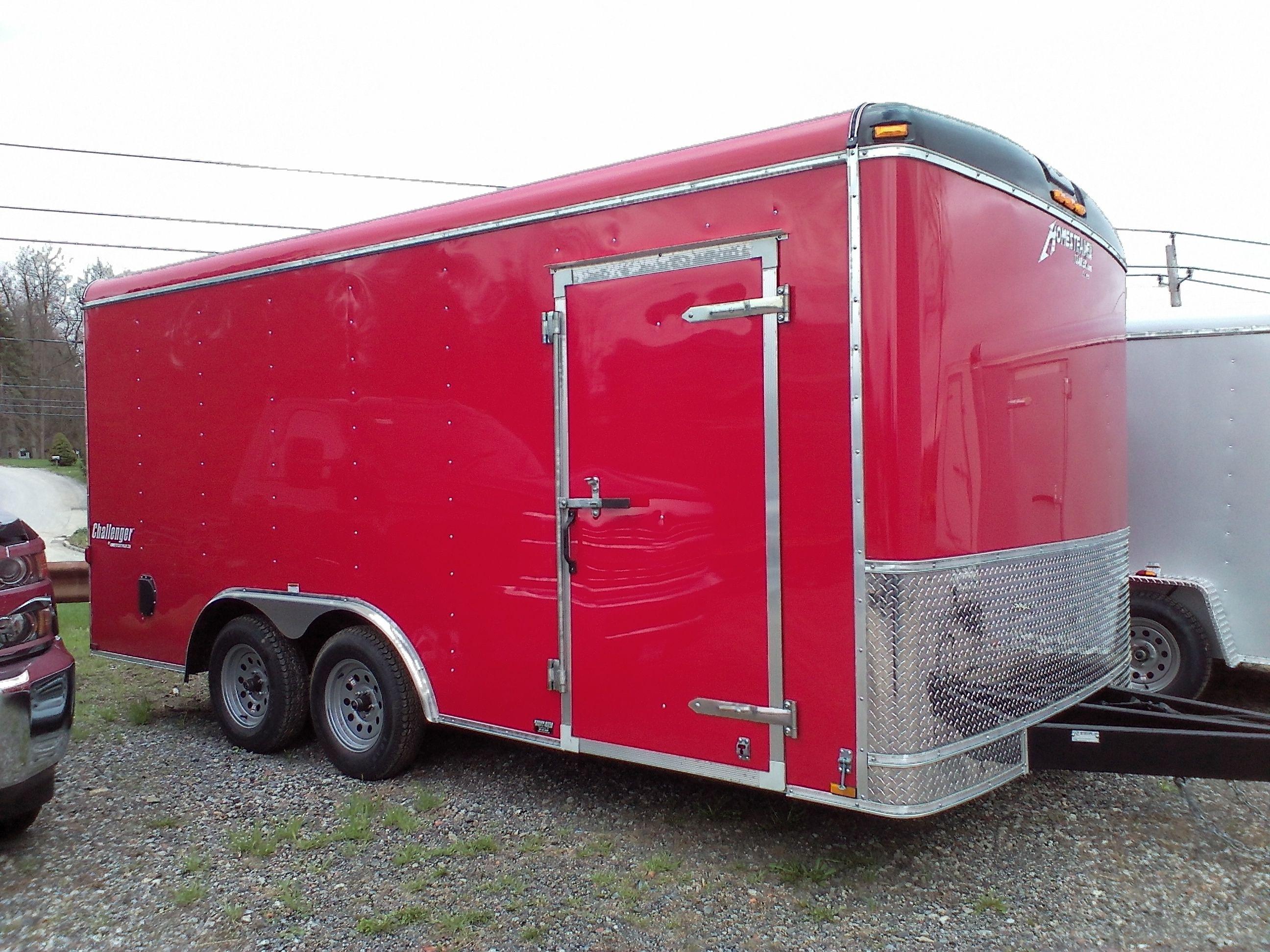 2015 homesteader enclosed trailer 85x16 7000 lb gvw