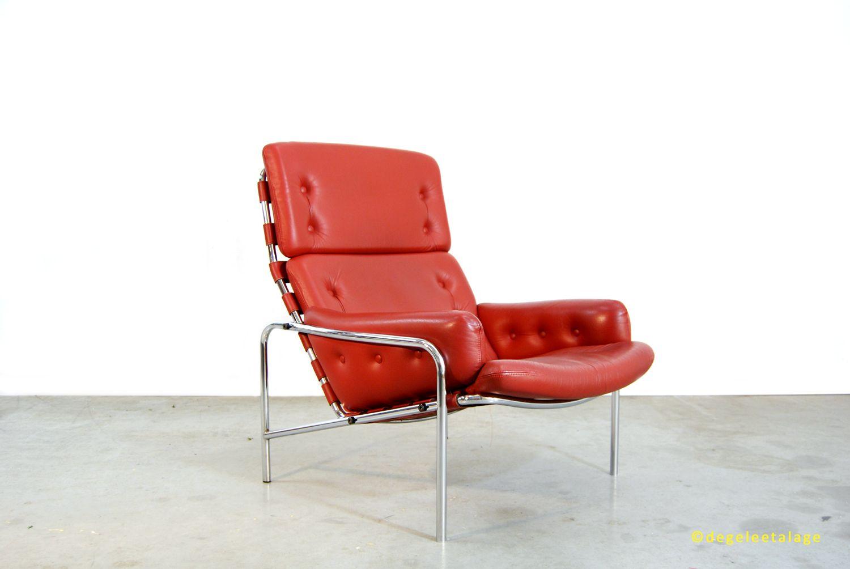 Leren Lounge Fauteuil.Vintage Jaren 60 Leren Lounge Fauteuil Nagoya Martin Visser