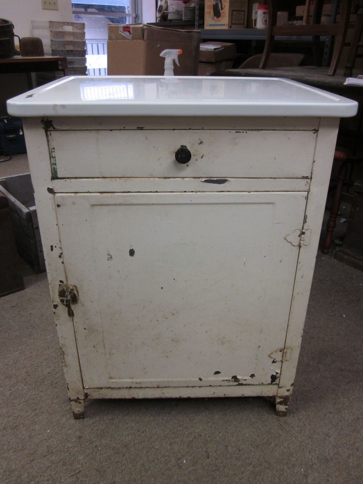 Beau Old Metal Cabinets For Sale | The Seller Was Asking $224 For It! Itu0027s Very  Similar To Ours Except .