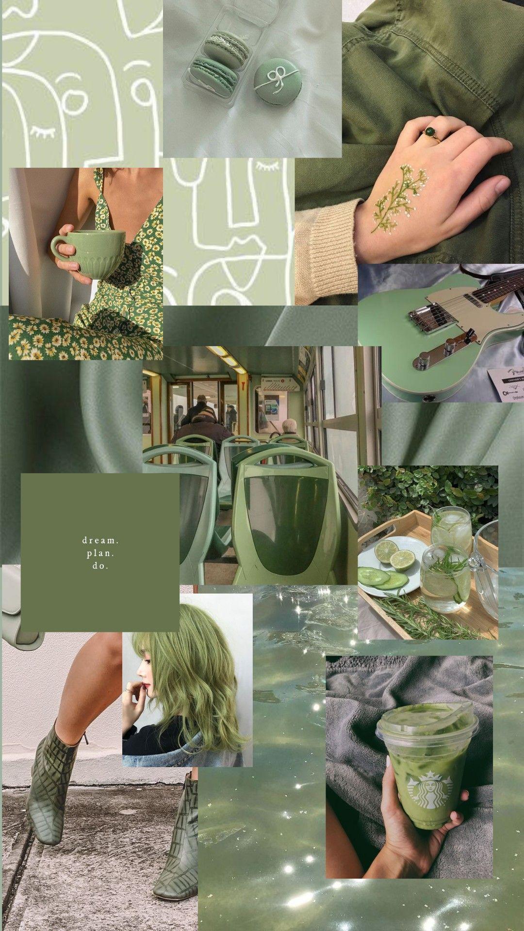 Matcha green aesthetic