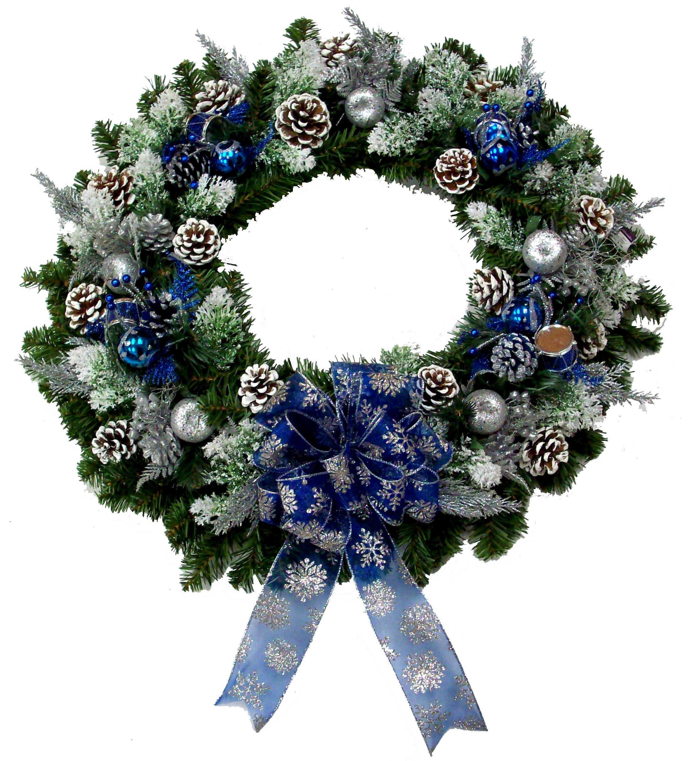 Christmas Tree Store Erie Pa: Blue Evergreen Wreath Designed By Karen B., A.C. Moore