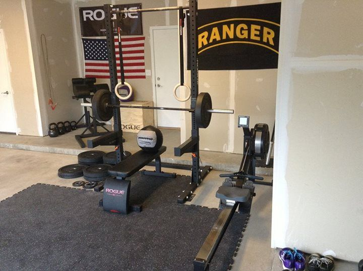 Rogue fitness gym pinterest garage