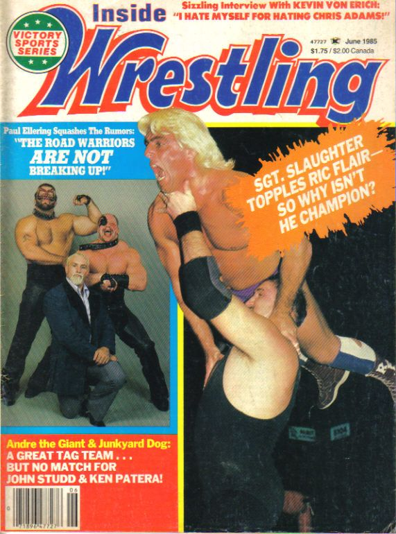 Image result for inside wrestling june 1985