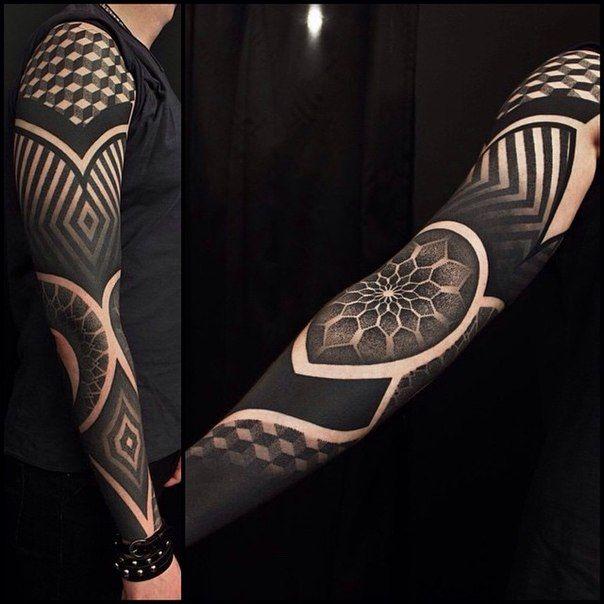 Black Art Tattoo Full Sleeve