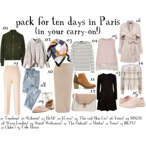 Pack for Paris