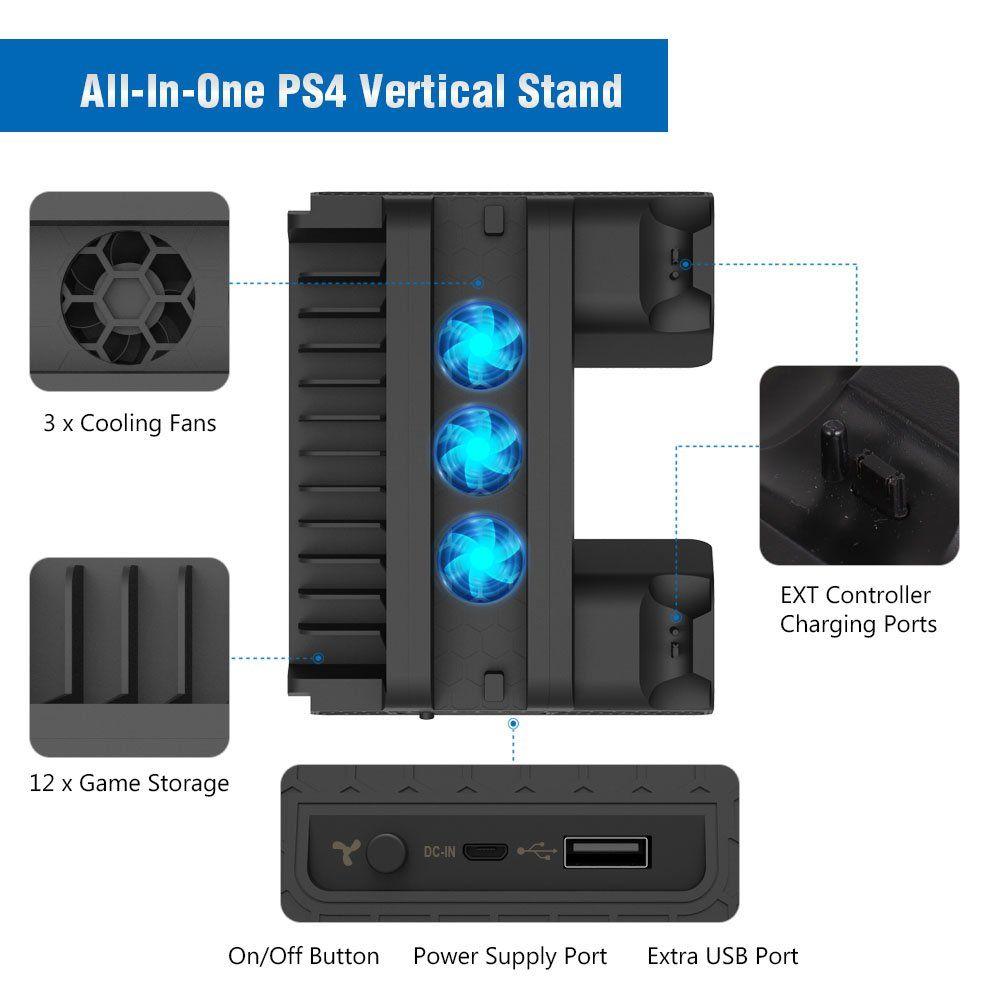 Kootek Vertical Stand For Ps4 Slim Ps4 Pro Regular Ps4