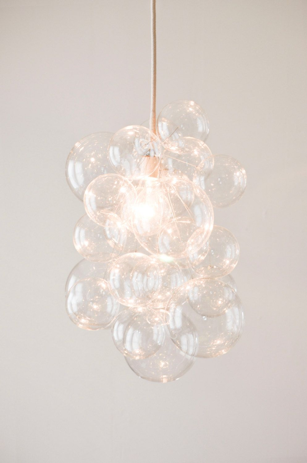 The Waterfall Pendant Glass Bubble Chandelier By Thelightfactory 500 00