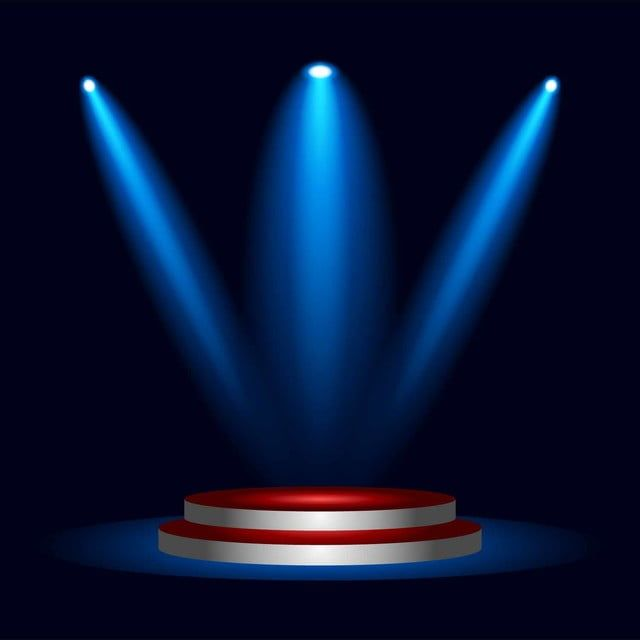 Podium Stage With Blue Spotlight Lighting Effect Spotlight Clipart Lighting Icons Spotlight Icons Png And Vector With Transparent Background For Free Downloa In 2021 Light Icon Spotlight Lighting Studio Background Images