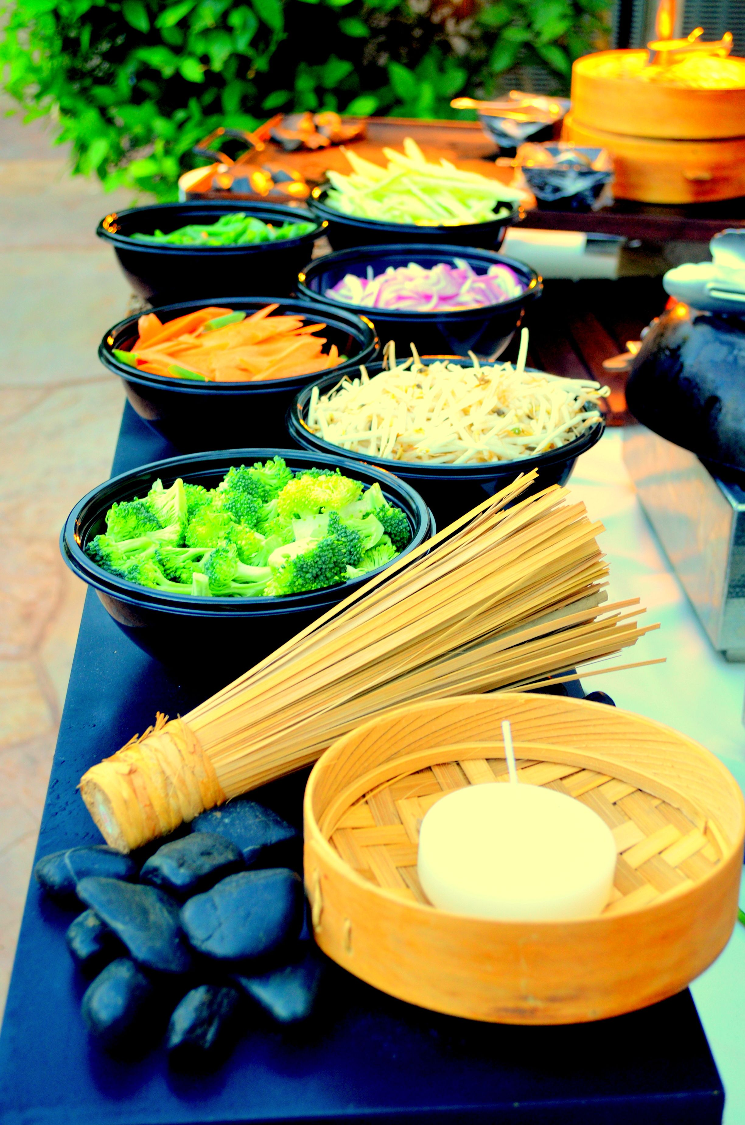 A Chef Attended Stir Fry Noodles Action Station Food And