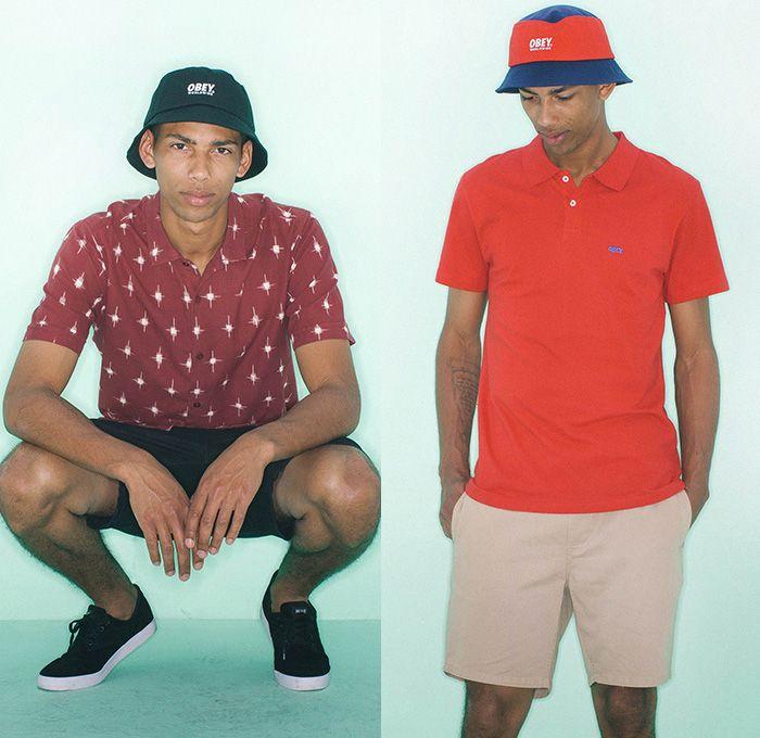 16cb1c228e5 03a) Pueblo Shirt - (03b) Worldwide Bucket Hat - OBEY Clothing 2014 ...