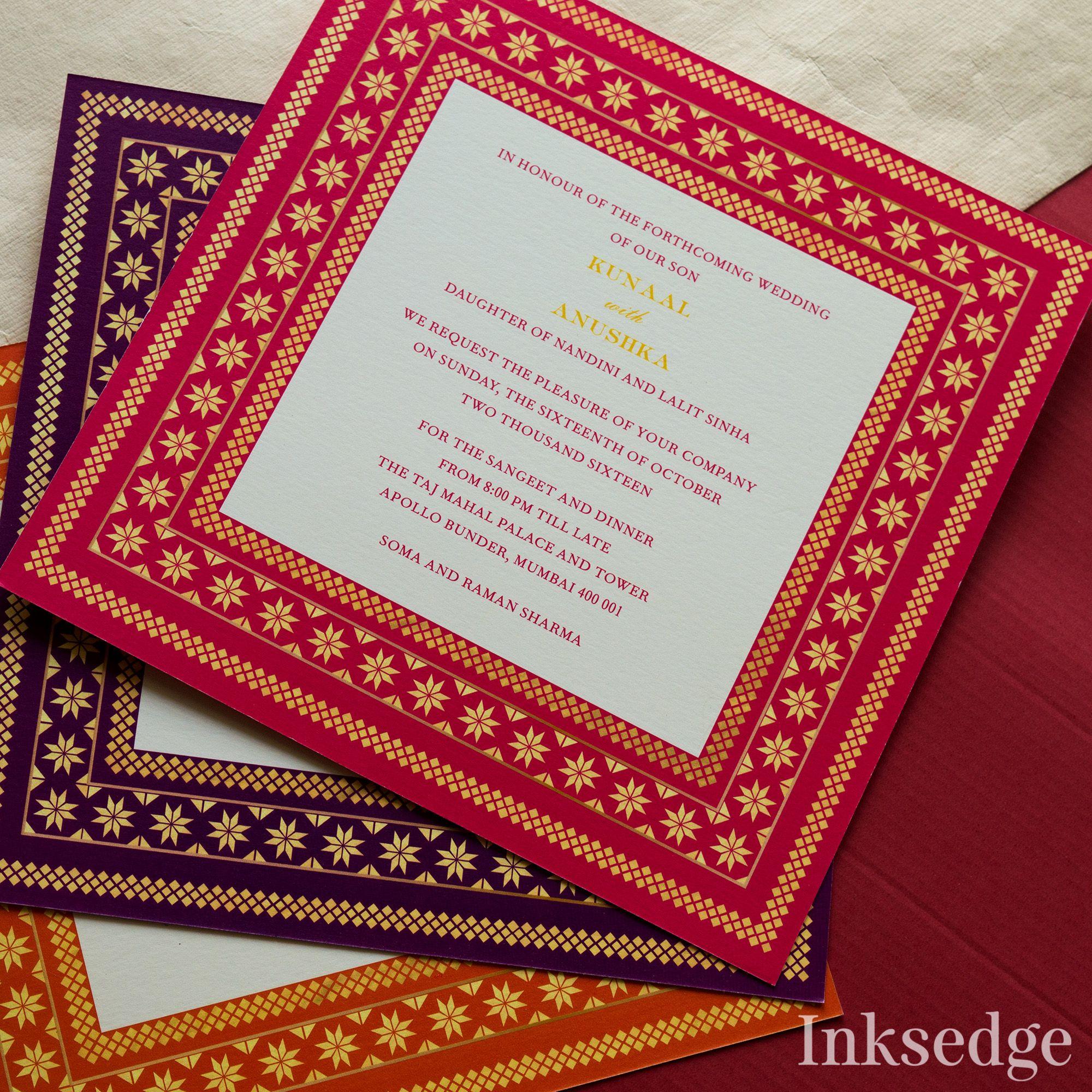 Jaipuri motifs in your wedding cards! #Inksedge #weddinginvitations ...