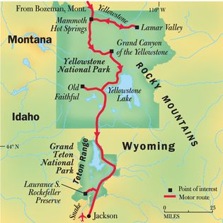 National Geographic 8day expedition itinerary of Grand Tetons