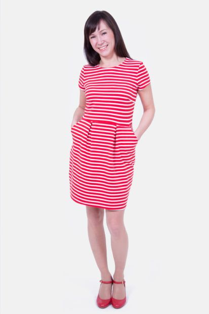 Große Streifenliebe – Maritimes Tulpenkleid | Sewing Clothes ...