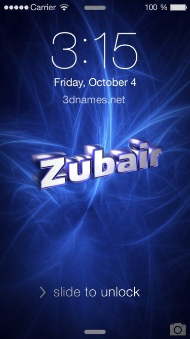 Preview Of Plasma For Name Zubair