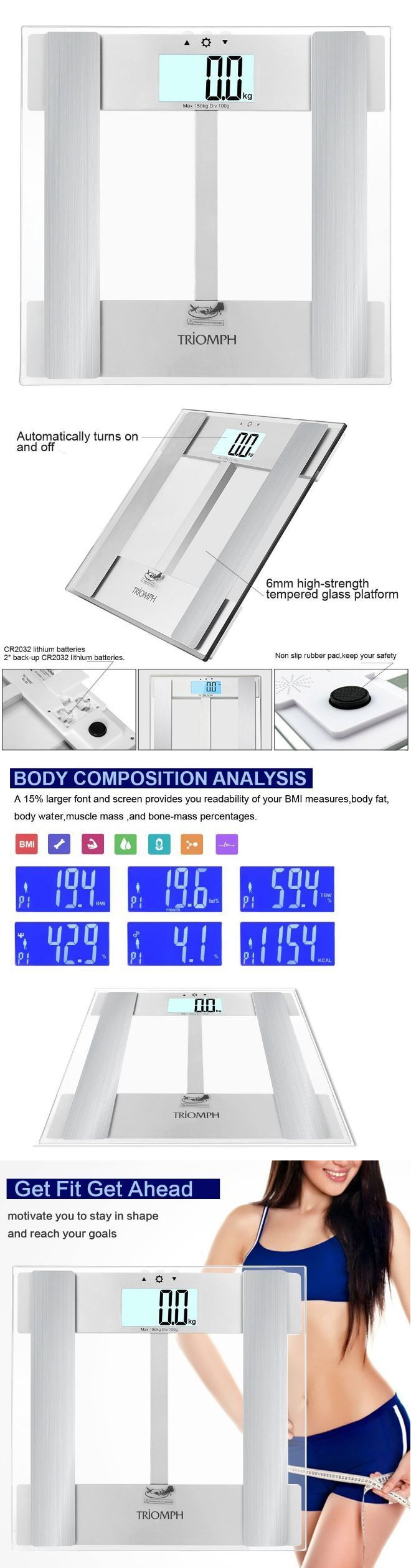 Bathroom scale body fat - Scales 108298 Weight Loss Digital Bathroom Scale Body Fat Bioelectrical Impedance Analysis New