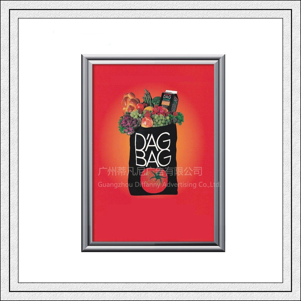 Top quality DF005 snap clip poster frame aluminum photo frame metro ...