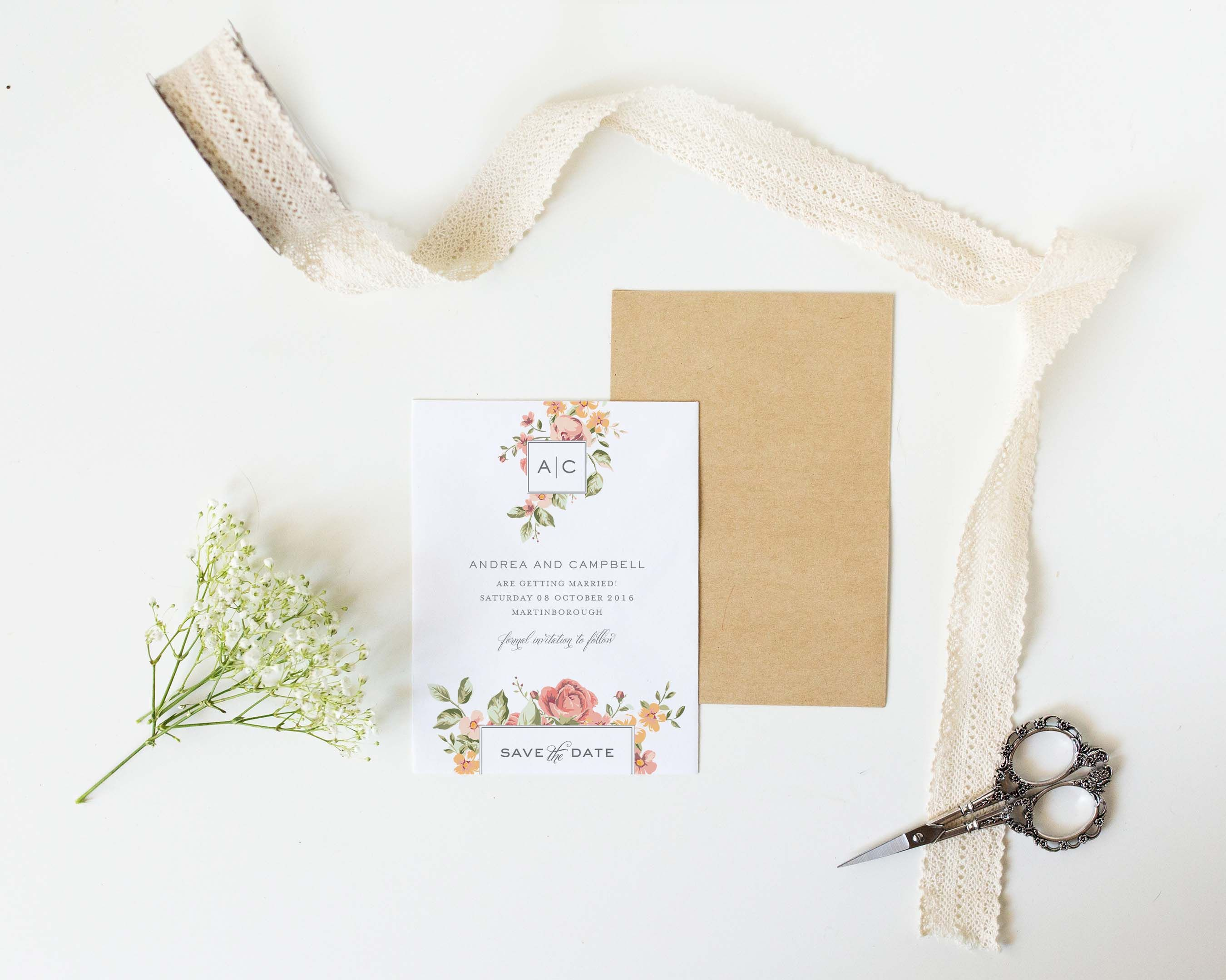 Beautiful Blooms\' design wedding invite from Sunny & Swoon Design ...
