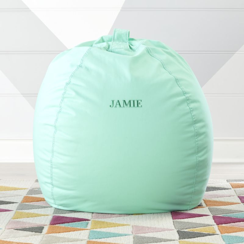 Large Mint Bean Bag Chair Crate And Barrel Green Bean Bags