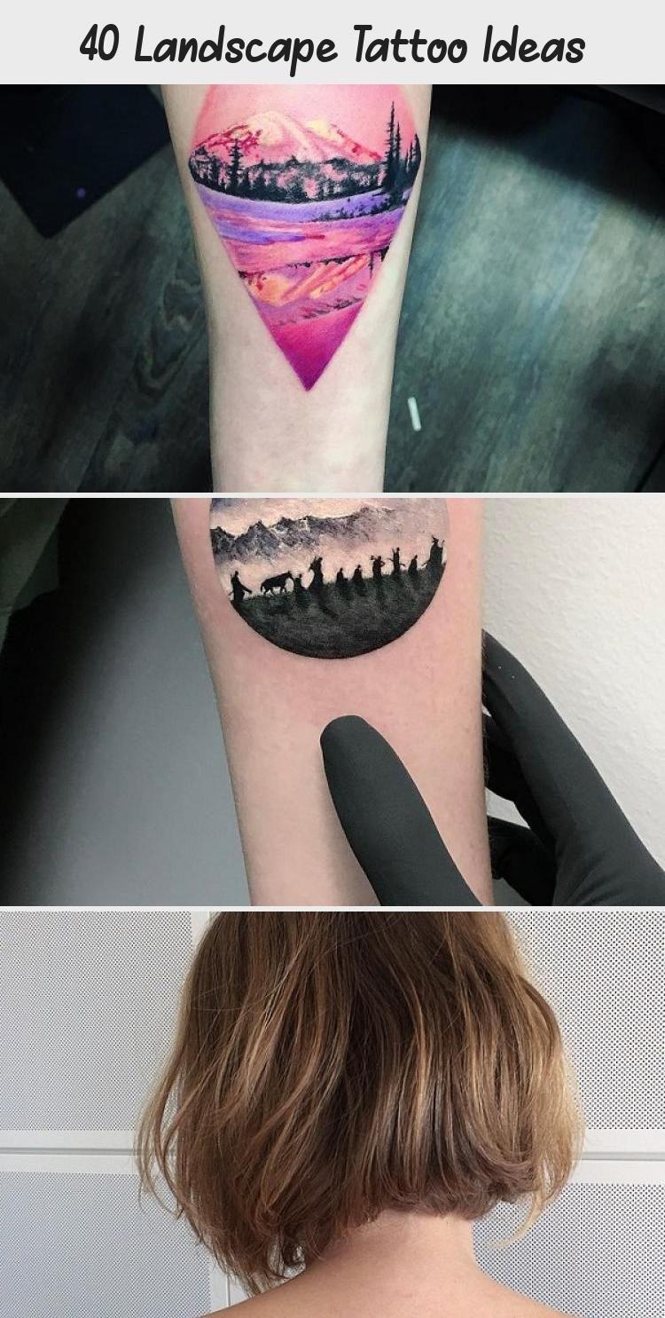 Photo of Idées de tatouage de paysage #ModernArtTattoo #SheIsArtTattoo #ArtTattooQuotes #ArtTat …