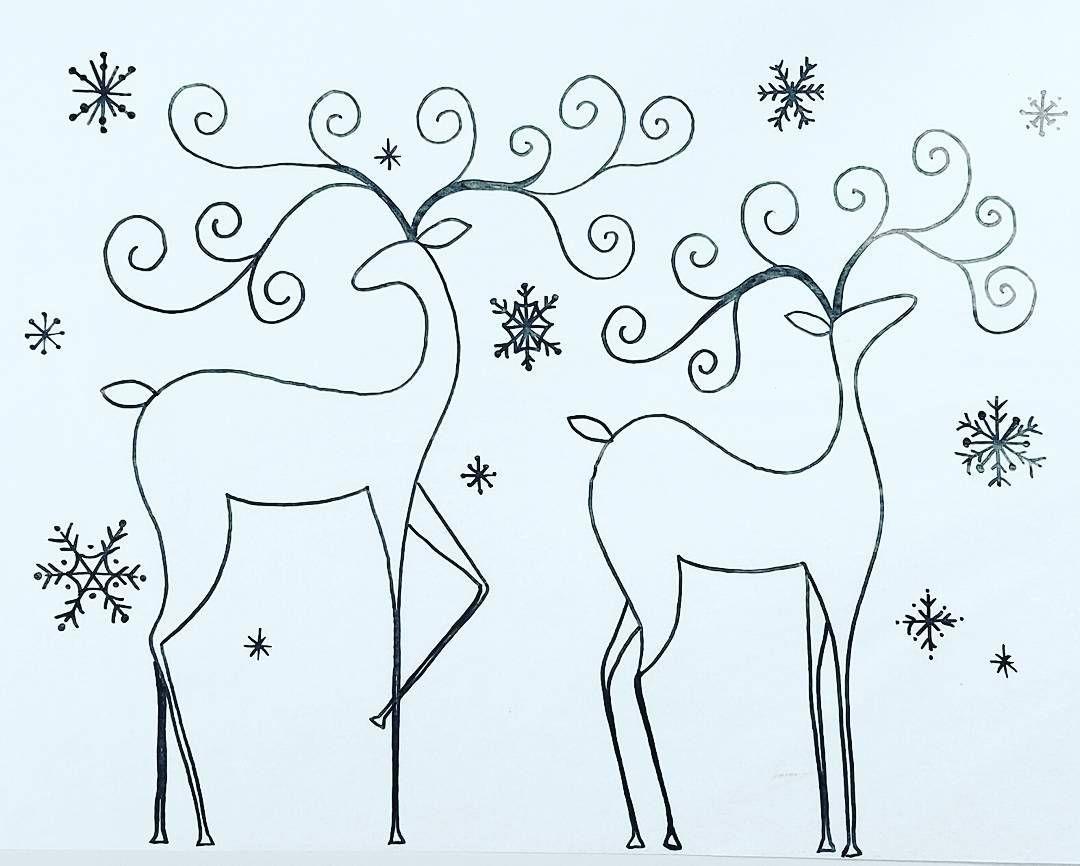 Free Printable Coloring Sheet Reindeer Traceable
