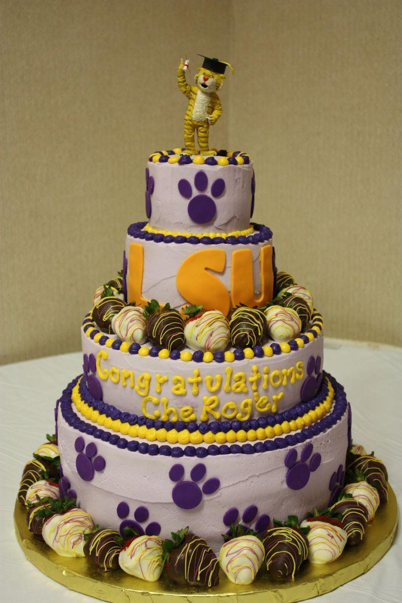 Lsu Graduation Cake Desserts Cake Creations Tiger Cake Cake Lsu