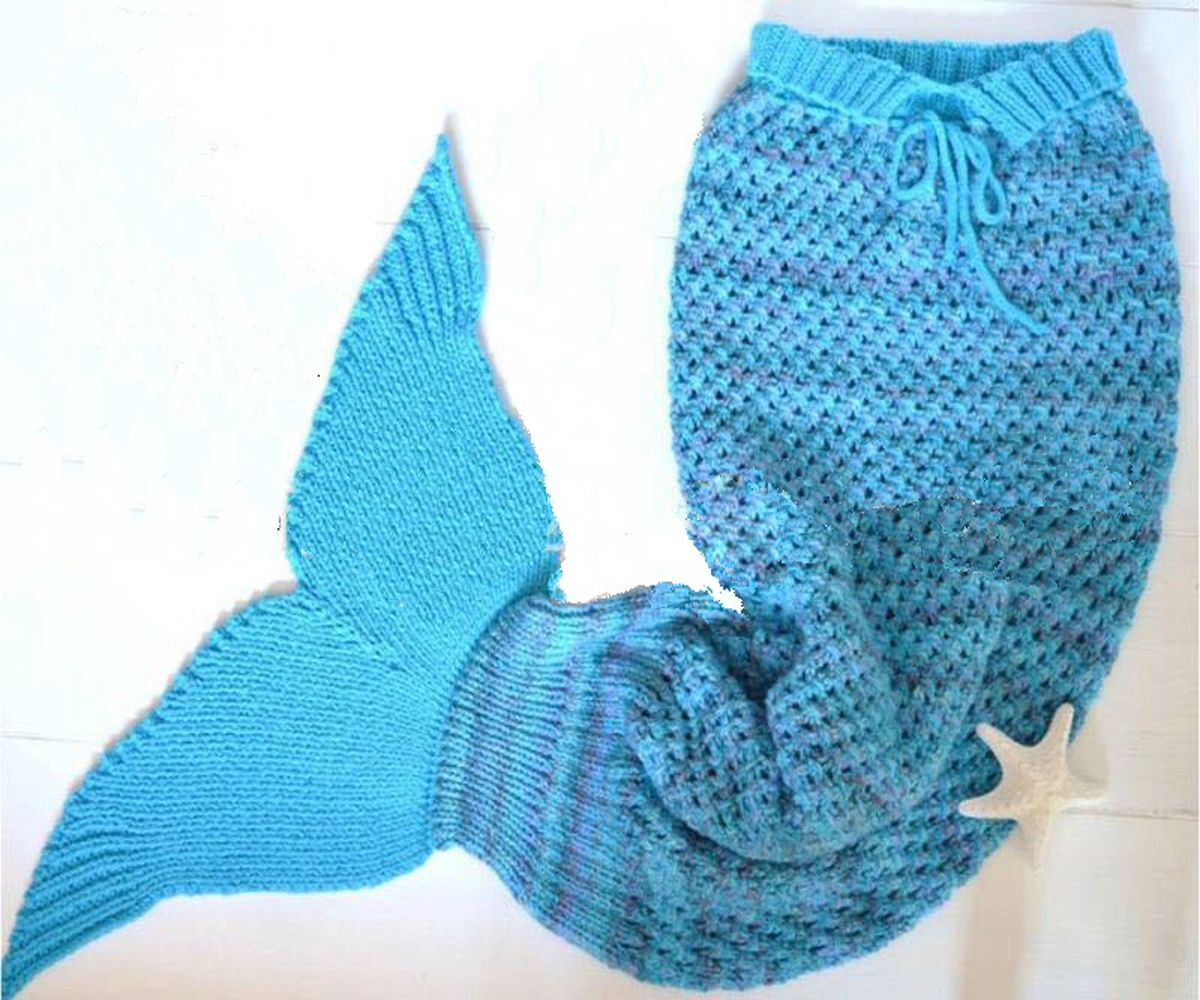 Pin by Trajectory゜ on Adorable Knitted Mermaid Blanket Lovely ...