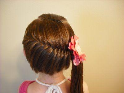 Peinados fáciles con trenzas para niñas Peinados y Cortes muy - peinados de nia faciles de hacer