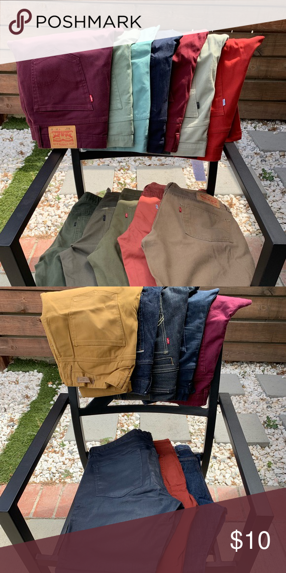 Men Jeans Levis Zara And Other Brand Jeans 10 Each 34x30