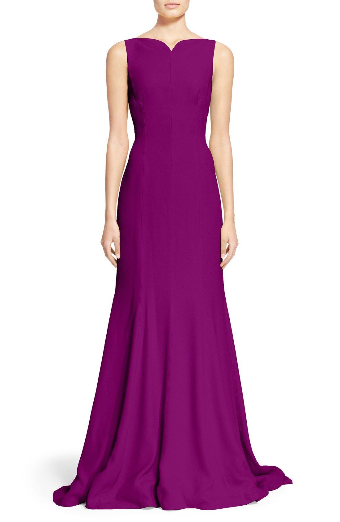 Oscar de la Renta Sleeveless Satin Crepe Gown | Vestidos | Pinterest ...