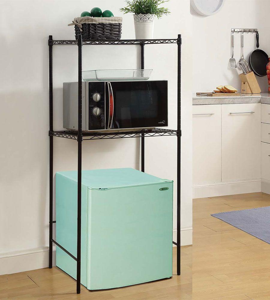 Mini Fridge And Microwave Rack In Kitchen Furniture Dorm Fridge Dorm Room Inspiration Mini Fridge Stand