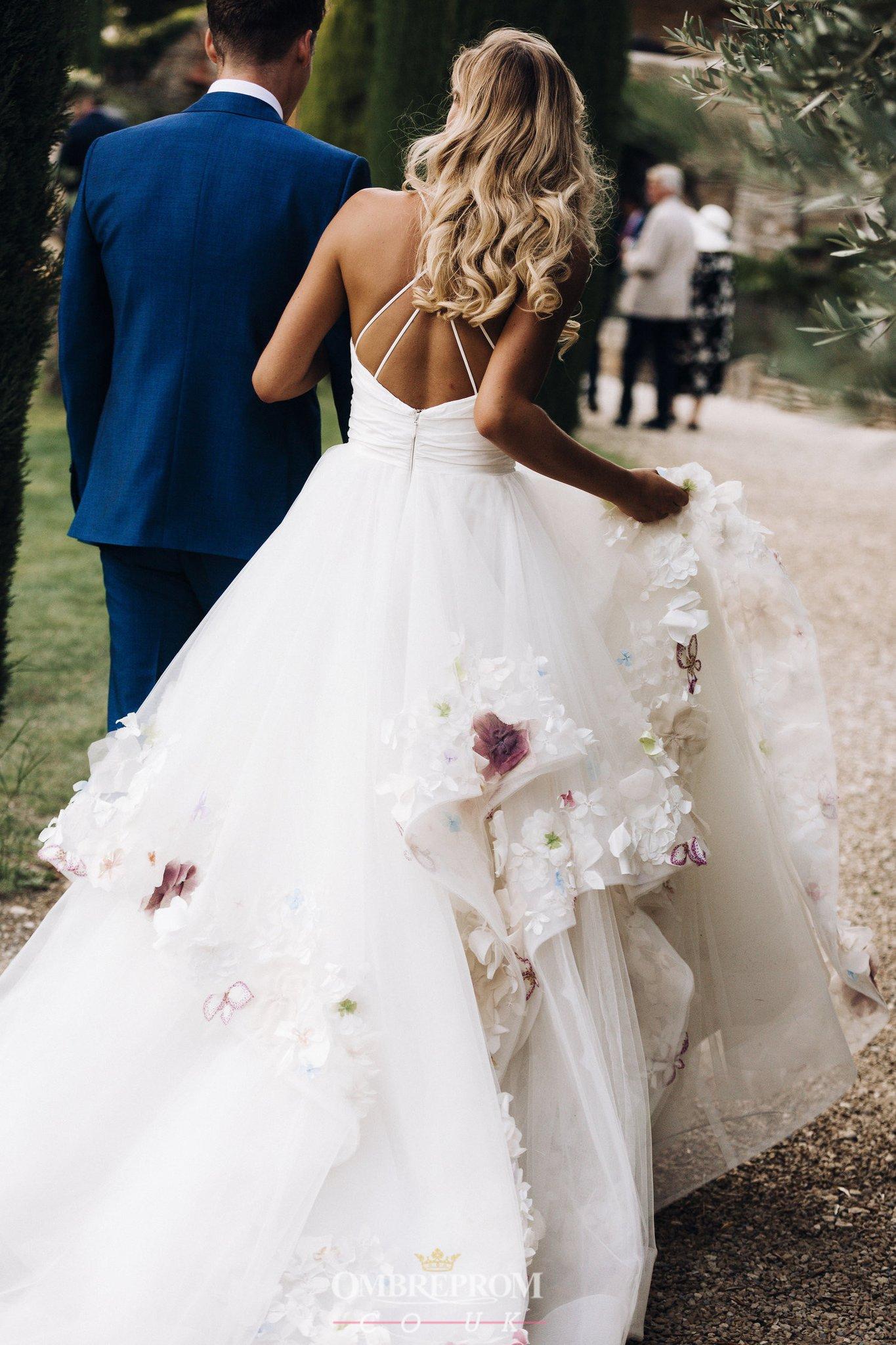 Buy Princess floral Appliques bridalgown