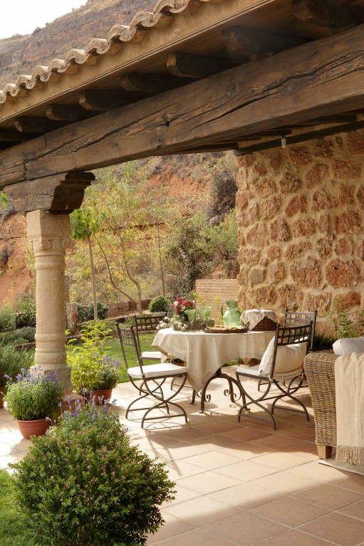 Casa Rústica Porches Rústicos Casas Rusticas De Piedra Y