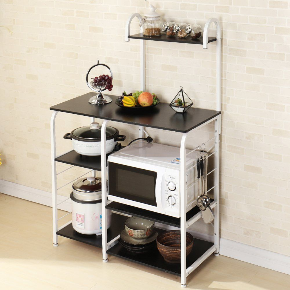 Soges Multifunctional Kitchen Bakers Rack Utility Microwave Oven Stand Storage Cart Workstation Shelf B
